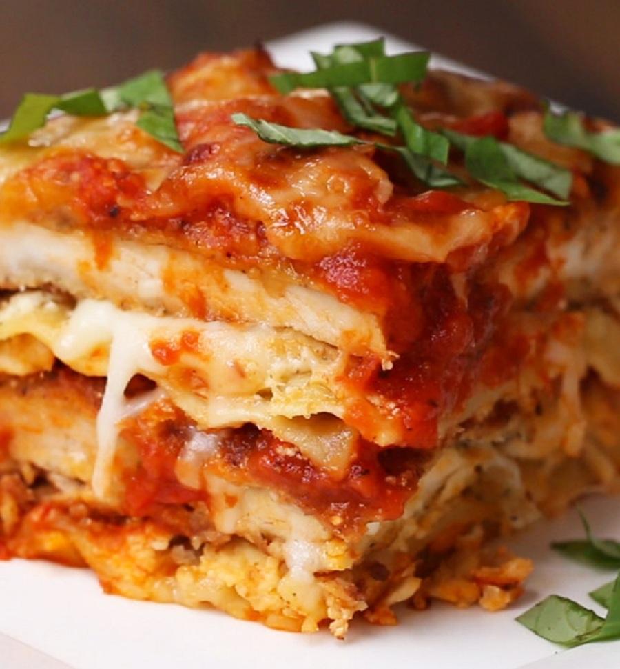 طرز تهیه لازانیای مرغ و پنیر ، یک غذای خوشمزه و عالی برای شما