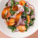 طرز تهیه سالاد تربچه و هویج