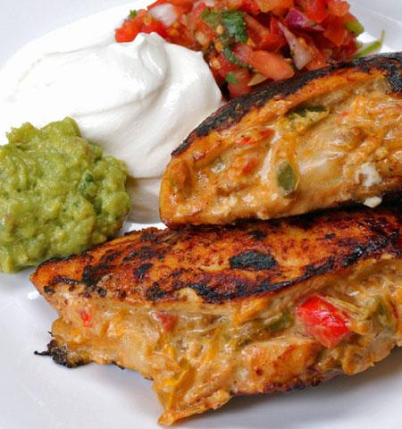 مرغ شکم پُر ، این بار به سبک مکزیکی ها مرغ شکم پر درست کنید