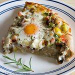 پیتزای صبحانه عالی و خوشمزه + تصاویر مراحل پخت