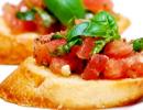 پیشغذای ایتالیایی خوش عطر و طعم : بروشتا