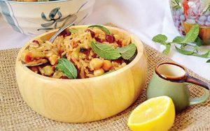 پلوی نخود و گندم غذای سنتی ترکیه برای افطاری ها