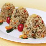 دمی سبزیجات با برنج قهوه ای مقوی برای سحری