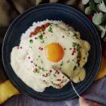 طرز تهیه برنج و کاری با گنبد پنیری یک غذای خوشمزه