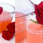 طرز تهیه لیموناد گل رز نوشیدنی خوشمزه برای تابستان
