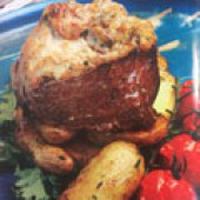 فیله مینیون با قارچ و پنیر کراتینه یک غذای فرانسوی عالی