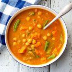 سوپ نخود شامی سبک برای شب های پاییزی