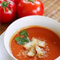 سوپ گوجه فرنگی و ریحان فوق العاده خوشمزه