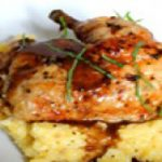 ران مرغ با پولنتا یک غذای خوشمزه ایتالیاییها