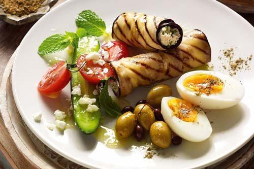 پیشغذای عربی با بادمجان
