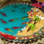 طرز تهیه ژله های حوض ماهی و شکل سبزه عید