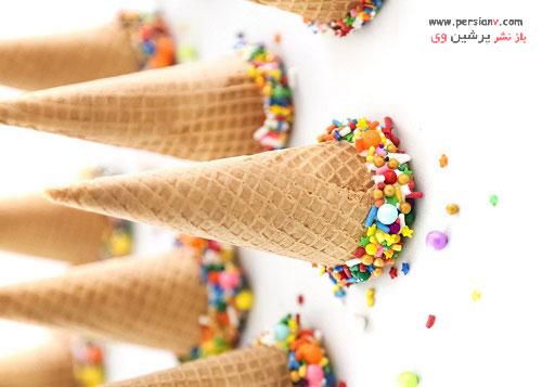 بستنی قیفی مارشمالو