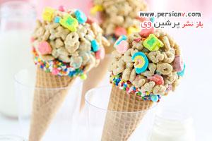 جشن تولد کودکتان را با بستنی قیفی مارشمالو خاطره انگیز کنید