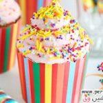 طرز تهیه و تزیین کاپ کیک موز و توت فرنگی