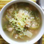 سوپ کلم و لوبیا یک پیش غذای سالم و مقوی