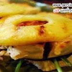 طرز تهیه ساندویچ مرغ و آناناس گریل شده