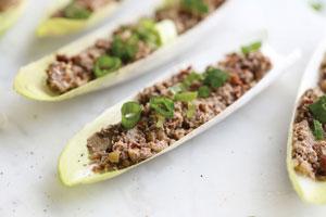 لقمه های قارچ و گردو جایگزین همبرگر برای گیاهخواران