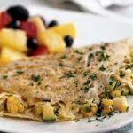 املت با سبزیجات تابستانی صبحانه ای رژیمی و فوری