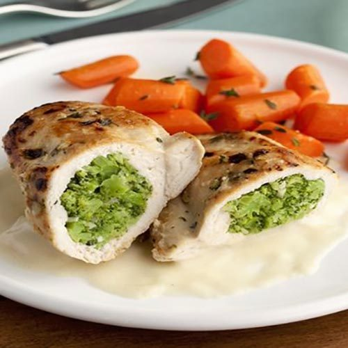 سینه مرغ شکم پر یک غذای شیک و مجلسی