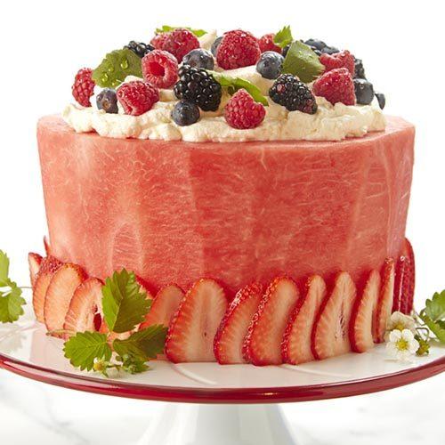 کیک میوه هندوانه برای شب یلدا + تصاویر