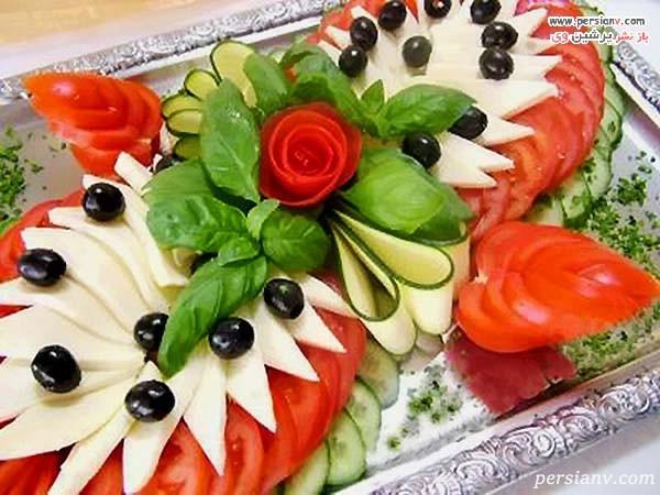 تزیین گوجه و خیار