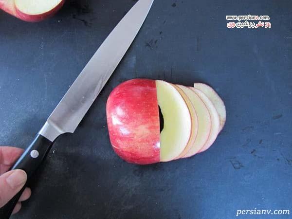 تارت سیب و خرما به شکل گل رز