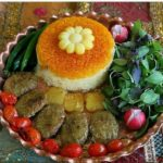 ایده هایی زیبا تزیین برنج قالبی برای افطاری شما