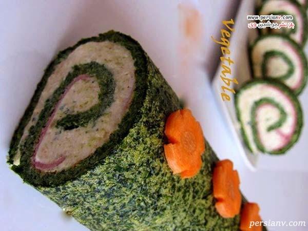 تزیین کوکو سبزی رولتی