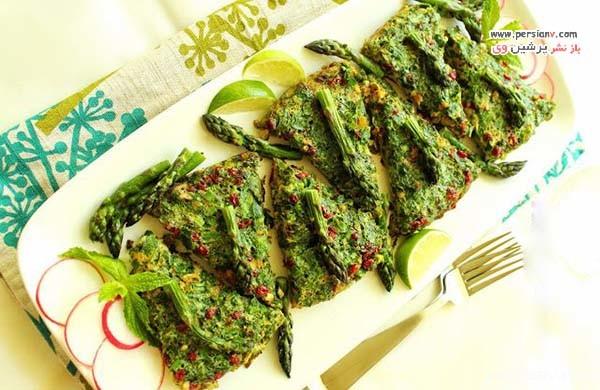 تزیین کوکو لوبیا سبز