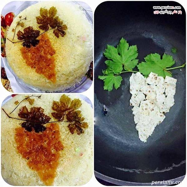 تزیین ته دیگ برنج