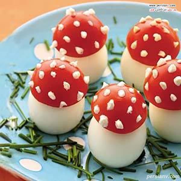 تزیین تخم مرغ آب پز