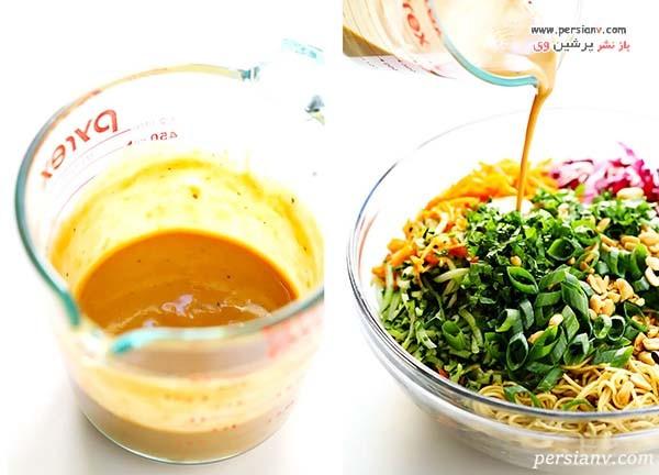 طرز تهیه نودل سبزیجات