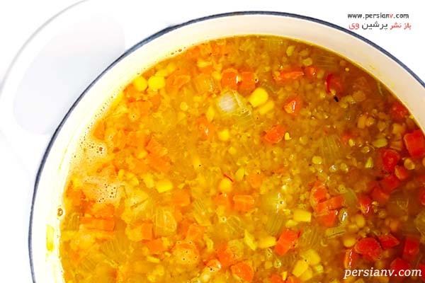 سوپ عدس قرمز