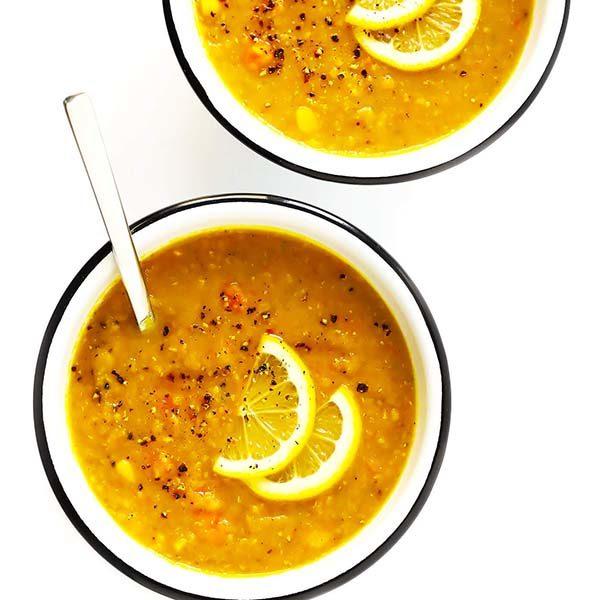 سوپ عدس قرمز سوپی سریع و خوشمزه برای فصل سرما
