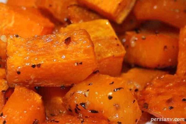 انواع طرز پخت کدو حلوایی برای وعده های غذایی