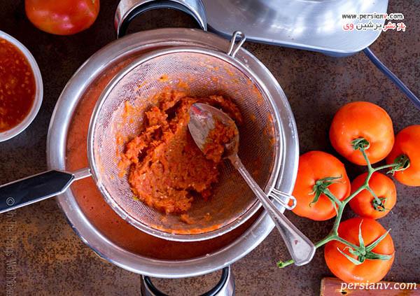 صاف کردن رب گوجه فرنگی