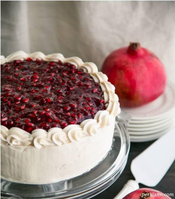 کیک انار شب یلدا