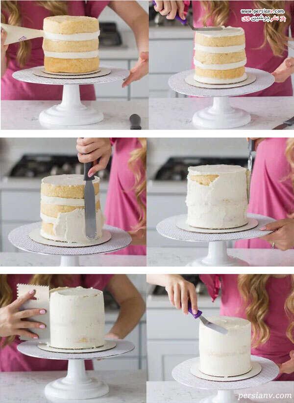خامه کشی کیک
