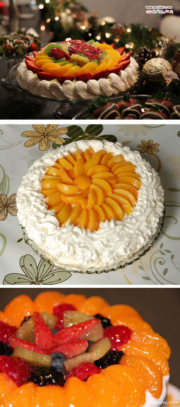 دکور کیک با میوه