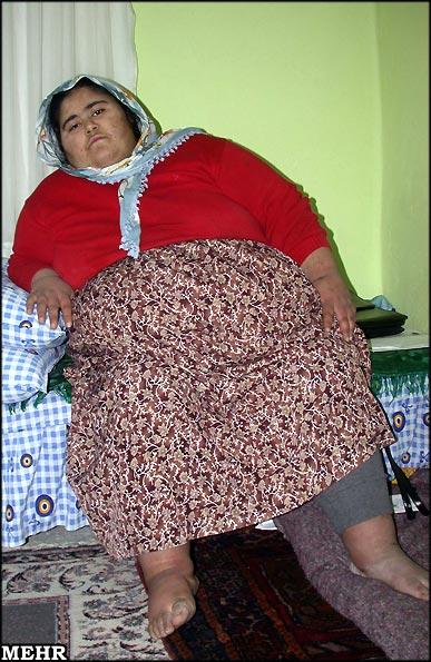 عکس : دختر مسلمان ۲۳۰ کیلویی !