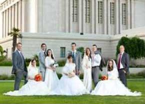 ازدواج ۵ برادر و خواهر در یک روز ! + عکس