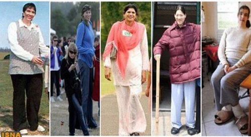 ۱۰ زن قد بلند تاریخ جهان! + عکس