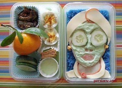 عکس : غذاهای تزئین شده ژاپنی ها !