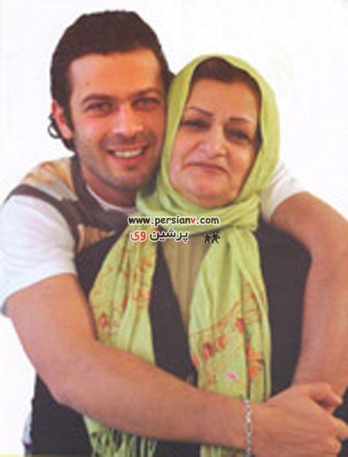 عکس دیدنی : پژمان بازغی ، مادر ، همسر و فرزندش