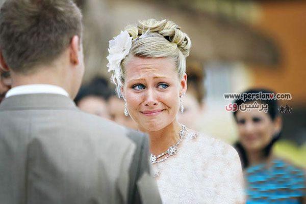 عکس جالب و دیدنی : لحظه خداحافظی یک عروس