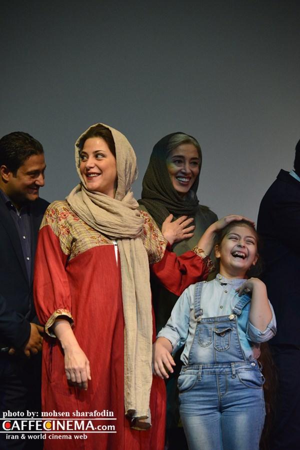 لحظه جالب و دیدنی یک مراسم سینمایی/ شوخی طناز طباطبایی و پانتهآ پناهیها با بازیگر زیبای این فیلم