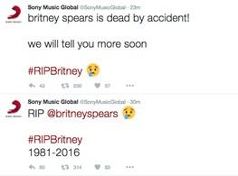 انتشار خبر درگذشت بریتنی اسپیرز در توییتر سونی و باب دیلن +تصاویر