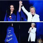 عکس های خندان هیلاری کلینتون در کنسرت تبلیغاتی کیتی پری