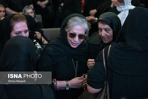 حضور هنرمندان و بازیگران زن مشهور در مراسم ختم داود رشیدی +تصاویر