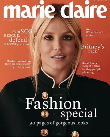 عکسی متفاوت از بریتنی اسپیرز روی جلد مجله مری کلر با کمک فوتوشاپ